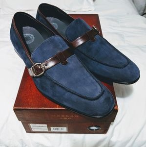 Mezlan barely used Suede Loafers size 9.5.